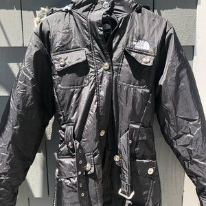 Long north face winter jacket